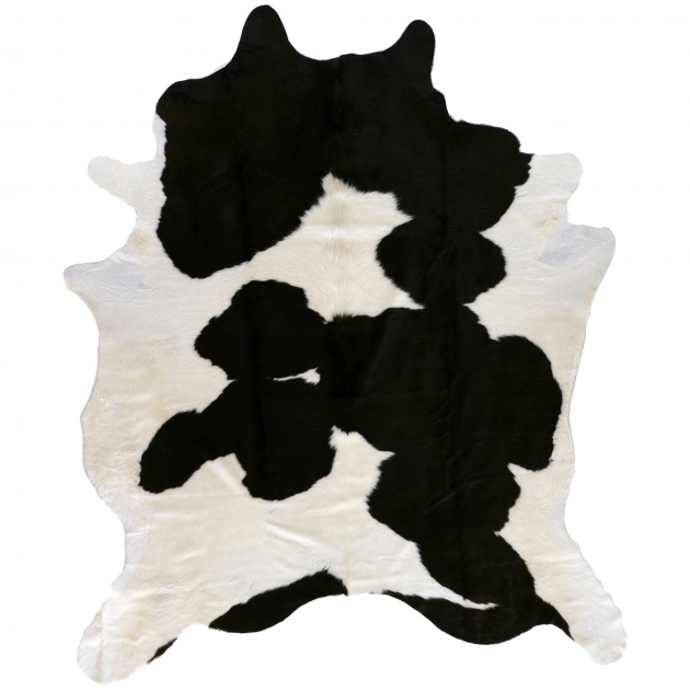 Black And White Cowhide Rug Hand Crafted Wagner Black White Leather Cowhide Rug 7 Square Pic 29