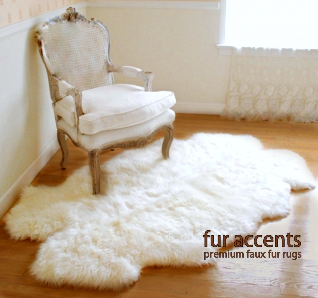 Faux Sheepskin Rug Fur Accents Little Prince Off White Area Premium Faux Fur Rugs Pic 48
