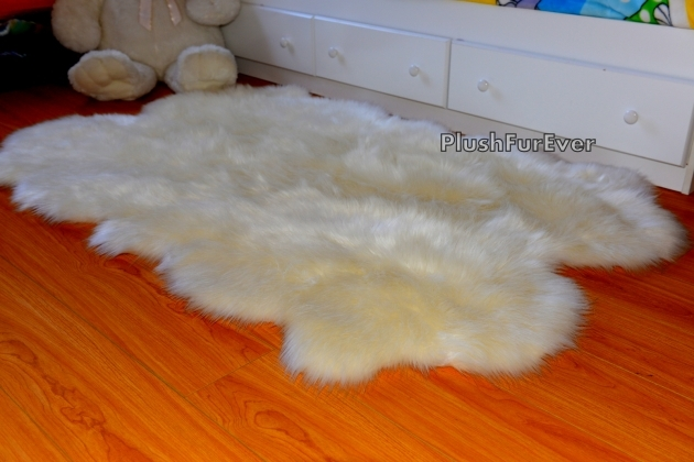 Faux Sheepskin Rug New White Faux Fur Throw Area Rug 5x7 Pic 86