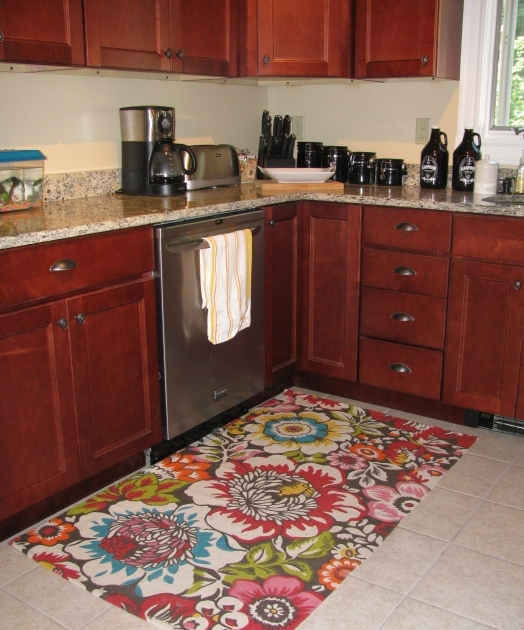 Kitchen Area Rugs Ideas Floral Motif Design Pics 68