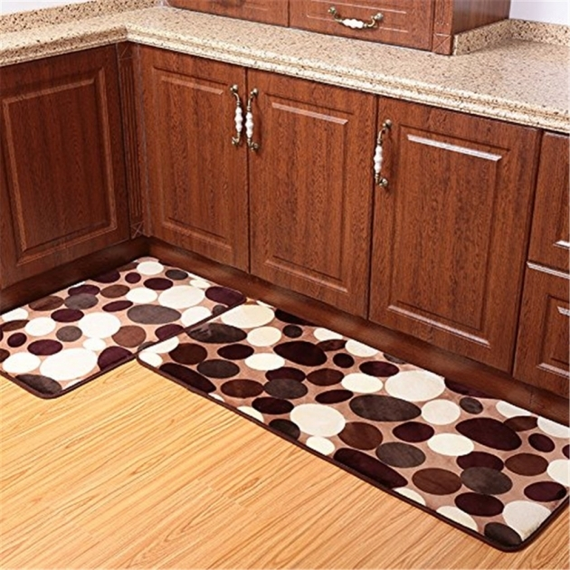 Kitchen Runner Rugs 2Pcs 50x80cm 50x120cm Coral Fleece Memory Foam Carpet Washable Image 18