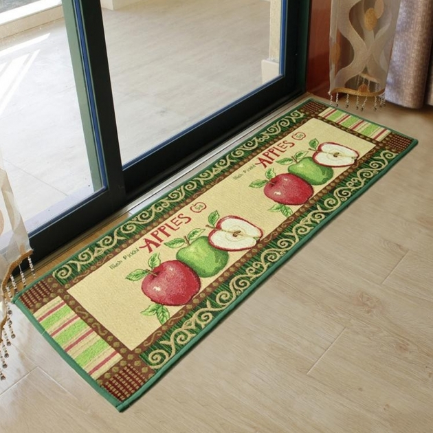 Kitchen Runner Rugs Yazi Hot Sale Vintage Country Apples Kitchen Rug Photo 05