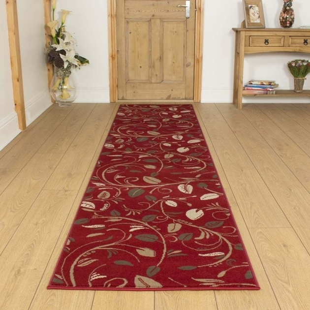 Long Runner Rugs Scroll Red Hallway Carpet Runner Rug Mat Pic 56