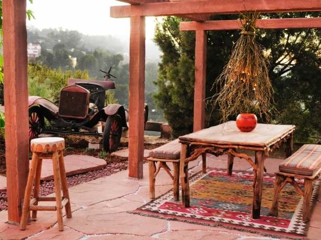 Outdoor Patio Rugs Southwestern Outdoor Dining Room Photos 07
