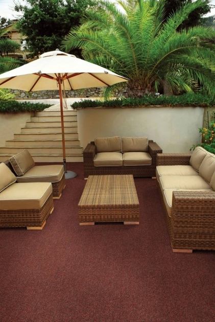Outdoor Rugs For Patios In Red Color Patio Flooring With Brown Wicker Patio Conversation Set Photo 91