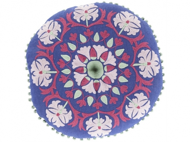 Round Cranberry Rug Accessories Decorative Pillows 16 Round Pillow Ar138 Surya Rugs Image 97