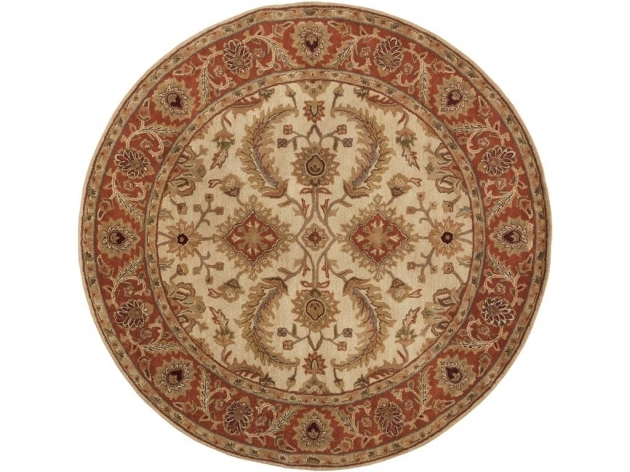 Round Cranberry Rug Floor Coverings Ancient Treasures Surya Rugs Photo 54
