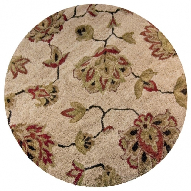 Round Cranberry Rug Orian Rugs Como Bisque 7 Ft 10 In Round Area Rug Image 24