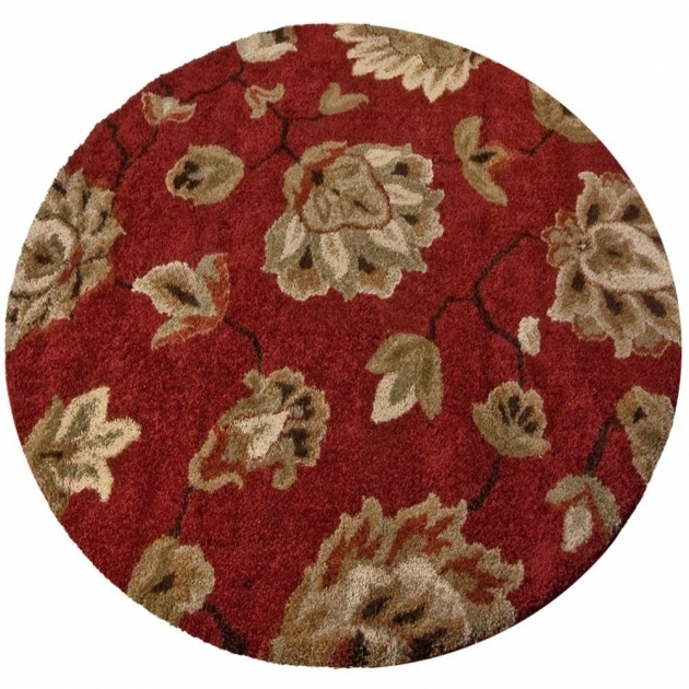 Round Cranberry Rug Orian Rugs Como Rouge 7 Ft 10 In Round Area Rug Pictures 45