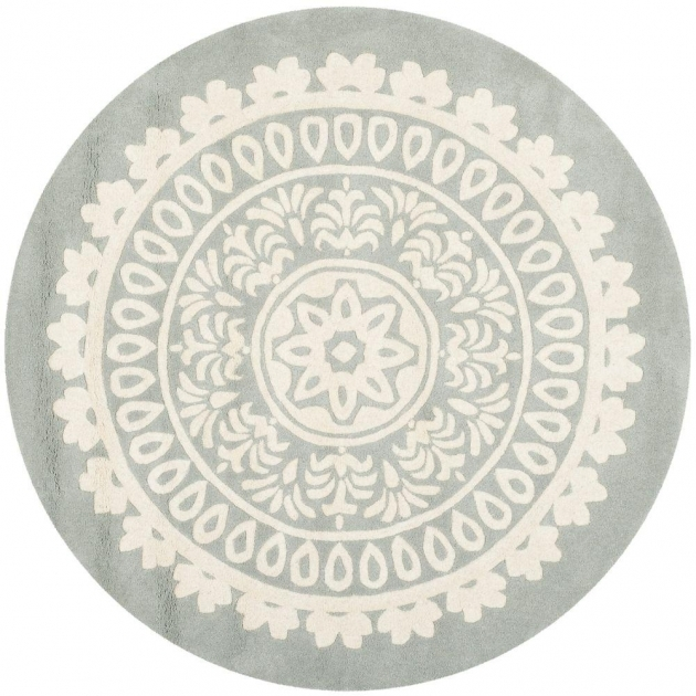 Round Cranberry Rug Round Area Rugs Rugs The Home Depot Photo 75