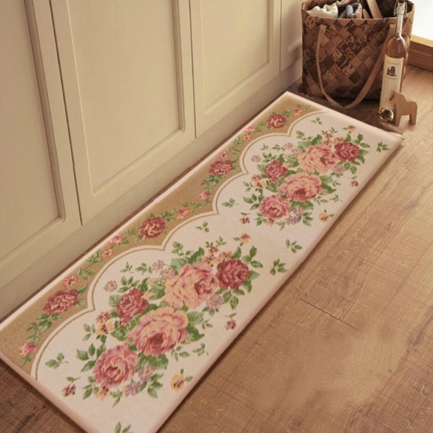 Washable Kitchen Rugs Cool Decor Ideas With Flowery Patterned Area Rug Ideas On Laminate Light Grain Wooden Flooring Plan Images 55
