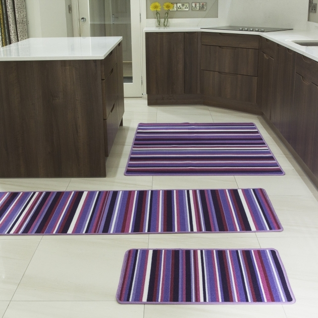 Washable Kitchen Rugs Luna Stripes Purple Modern Rugs All Photos 17