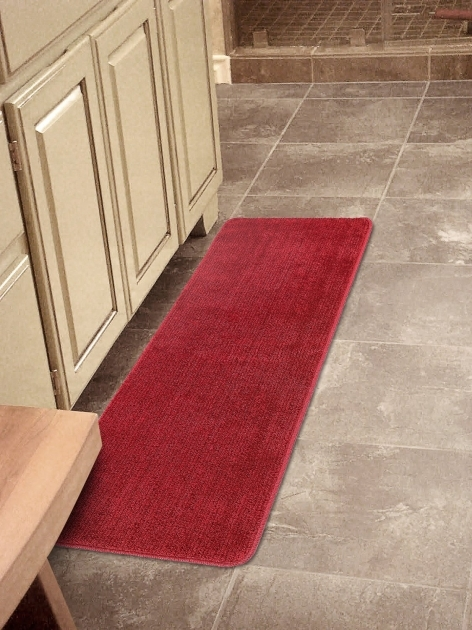 Washable Kitchen Rugs Red Runner Rug Softy Collection Solid Mat Rug Plain Soft Quality Bath Mats Photo 13