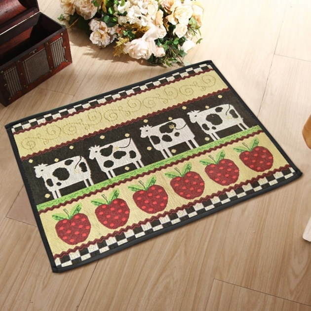 Washable Kitchen Rugs Yazi Country Style Cow Pattern Pictures 85
