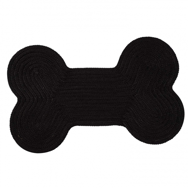 Black Braided Rugs Dog Bone Solid H031 Photos 19