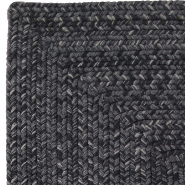 Black Braided Rugs Indoor Outdoor Stain Proof Rectangle Swatch Black Ultra Durable Braided Rugs Images 19