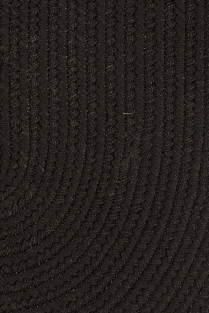 Black Braided Rugs Rhody Rugs Solids Closeup S016 Pic 52