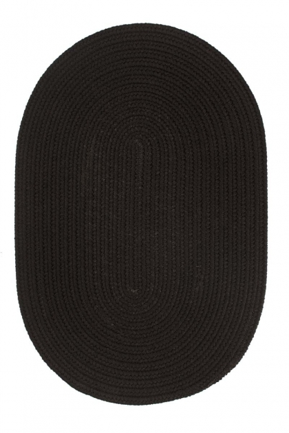 Black Braided Rugs Rhody Rugs Solids S016 Photo 42