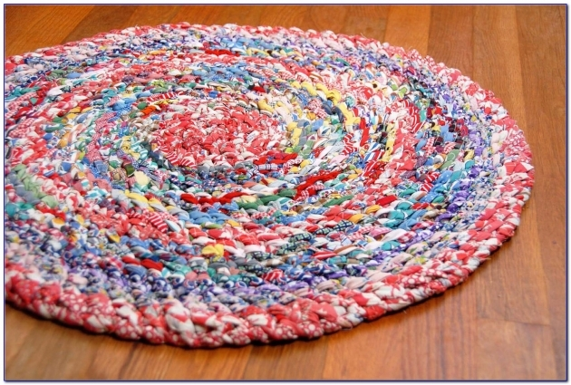 Braided Rag Rug No Sew Home Decorating