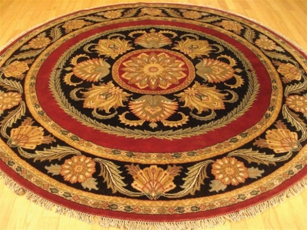 Braided Round Rug Area Rugs Room Contemporary Kitchen Photos 07