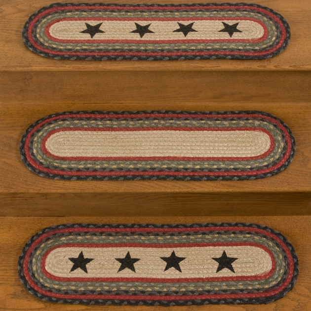 Braided Rug Stair Treads Black Star Jute Stair Tread Pics 10