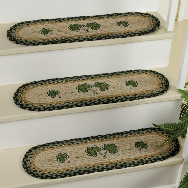 Braided Rug Stair Treads Sheep And Shamrock Braided Jute Stair Tread Pic 14