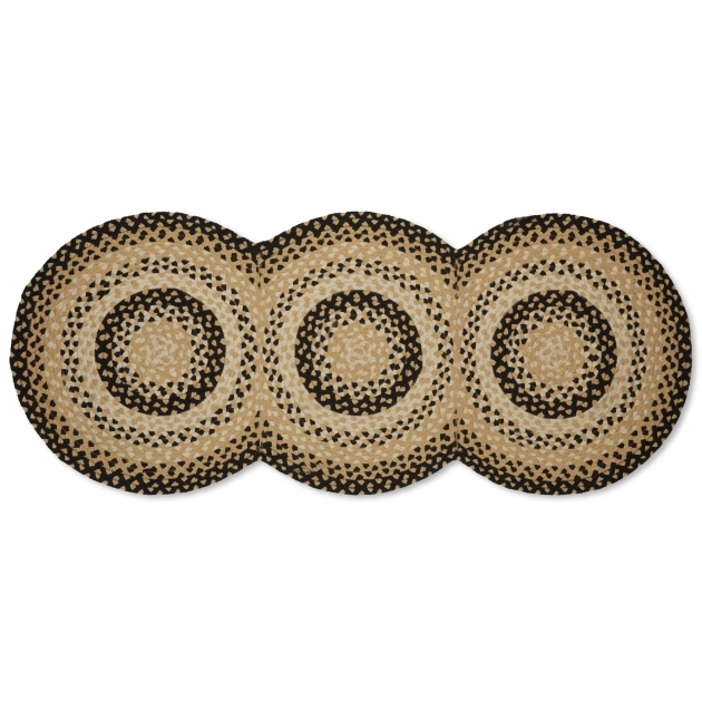 Braided Rugs Clearance Connected Circles Braided Rug Runner Mustard Pic 61