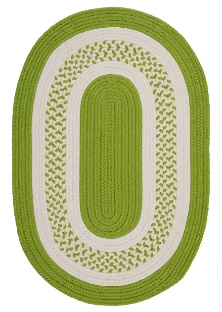 Braided Rugs Clearance NT62   Bright Green Cresent Ovals Colonial Mills Braided Area Rugs Indoor Picture 31