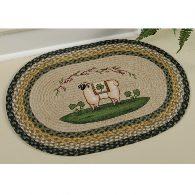 Braided Rugs Clearance Sheep Shamrock Rug  Pictures 43