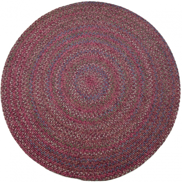 Braided Rugs Clearance Sophia SO45 Burgundy Multicolored Round Picture 44