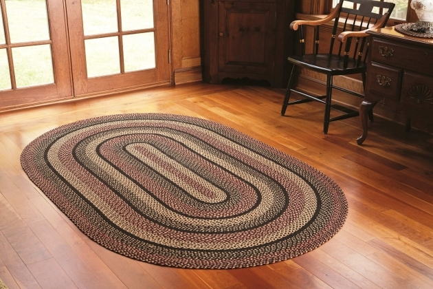 Braided Rugs Made In USA Big Oval In Multicolor On Wooden Floor Pics 21