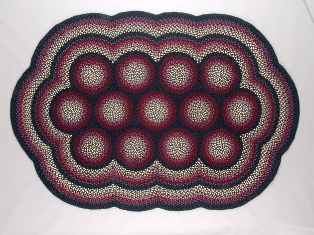 Braided Rugs Made In USA Multi Circle Oval Custom Pic 95