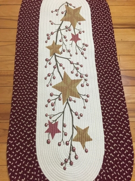 Braided Runner Rugs Country Primitive Stars Berries Braided Runner Folk Pics 96