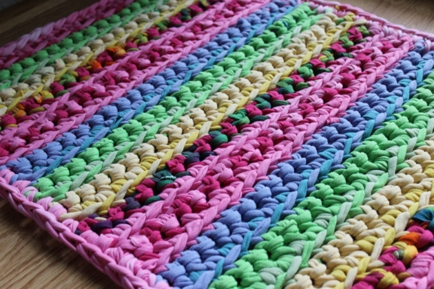 Braided Tshirt Rug Ideas Rainbow Rug Pictures 95