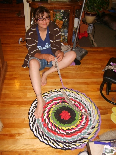 Braided Tshirt Rug No Sew Pic 76