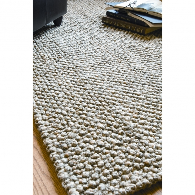 Braided Wool Rugs Classic Rectangle On Wooden Floor Picture 25