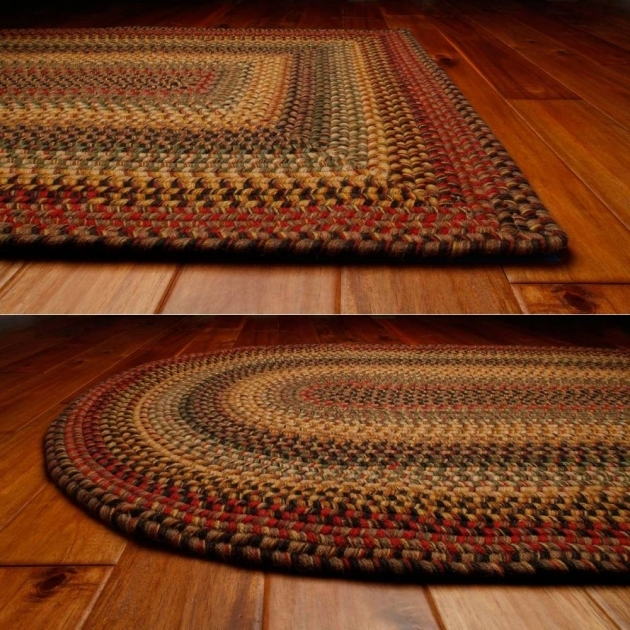 Braided Wool Rugs Country Style Picture 19