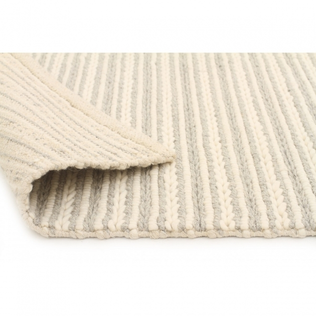Chunky Braided Wool Rug Back Kelso Grey & Cream Image 55
