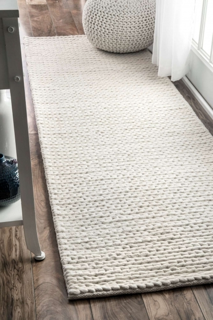 Chunky Braided Wool Rug Contemporary Styles Photo 13