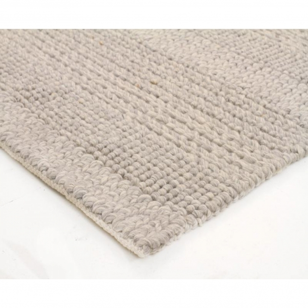Chunky Braided Wool Rug Hand Braided Grey Felted Wool Floor Area Rug Pictures 44