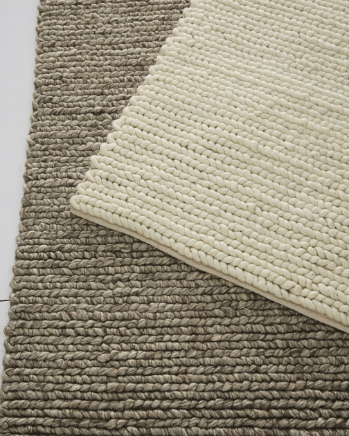 Chunky Braided Wool Rug Heathered Wool Rug 0037 Crop Image 94