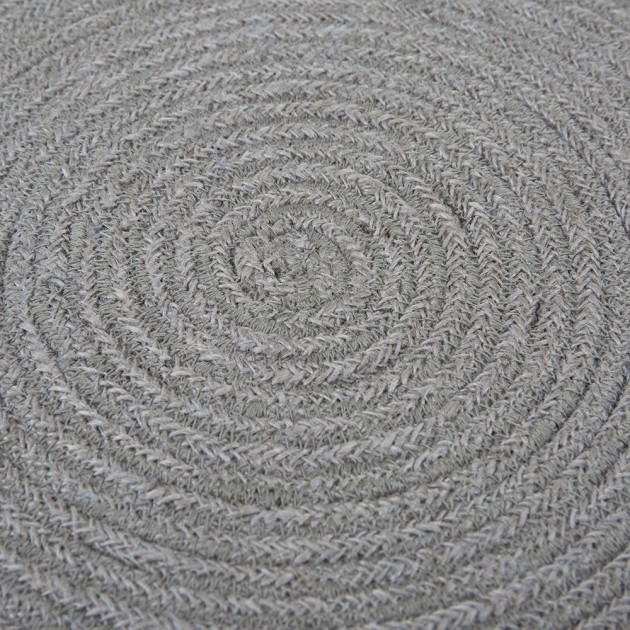 Gray Braided Rug Grey Cream Photos 43