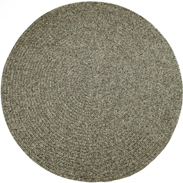 Gray Braided Rug Sandi SA88 Graphite Tweed Round Images 13