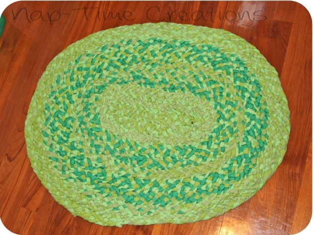 Green Braided Rug Finished Nap Time Creations Image 07
