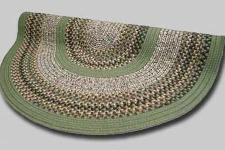 16 Green Braided Rug
