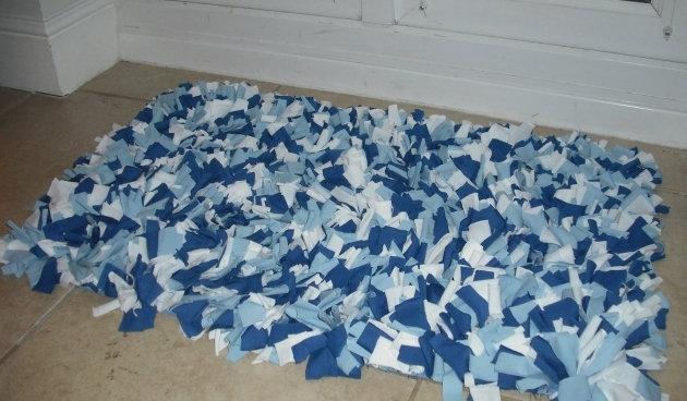 How To Make A Braided Rag Rug Blue Images 27