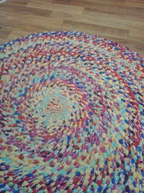 How To Make A Braided Rag Rug No Sew Pics 35