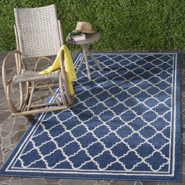 outdoor Area Rugs Clearance Safavieh Amherst Navy Beige Indoor Outdoor Picture 82