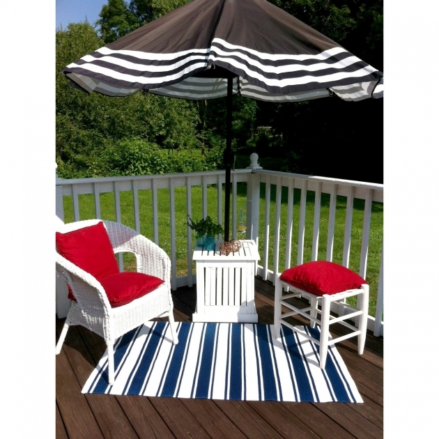 outdoor Area Rugs Fab Rugs Lucky Blue White Striped 8103270207 Pics 99