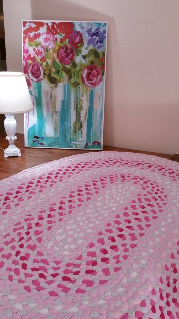 Pink Braided Rug Light Oval Pics 25